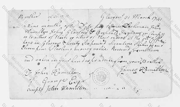 James Hamilton Bill 1