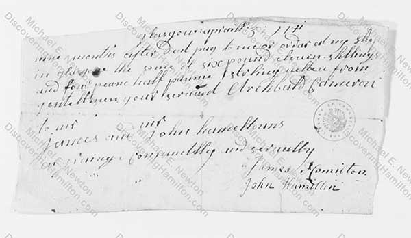 James Hamilton Bill 3