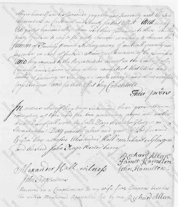 James Hamilton Indenture 3