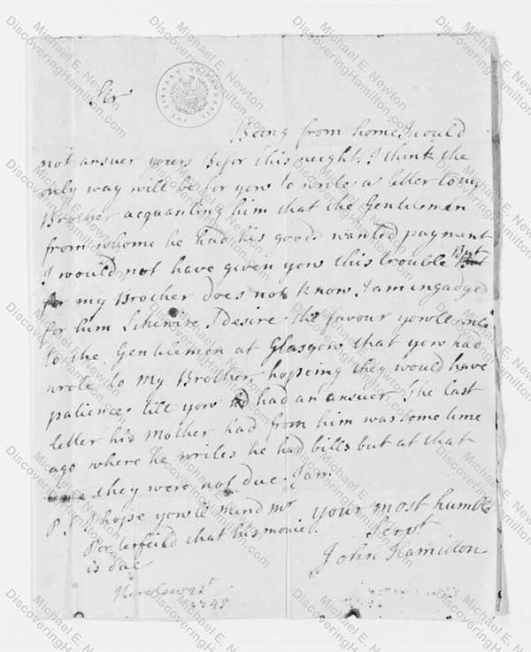 John Hamilton 1749