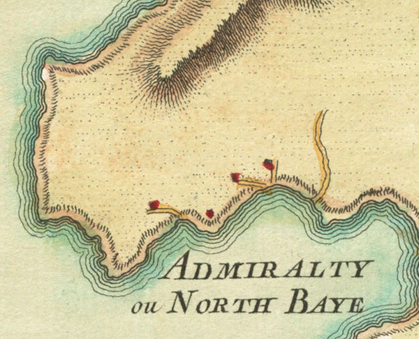 1763 map of Bequia focusing on Lot No. 18