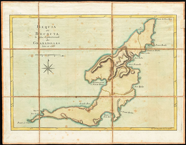 1763 map of Bequia