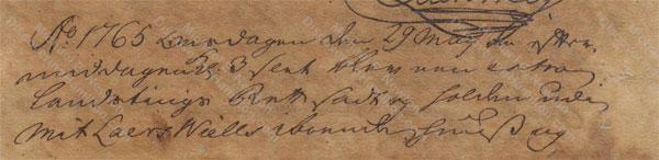 John Davis v. James Hamilton, May 29, 1765, 1