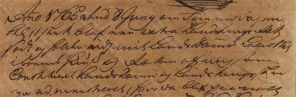John Davis v. James Hamilton, June 8, 1765, 1