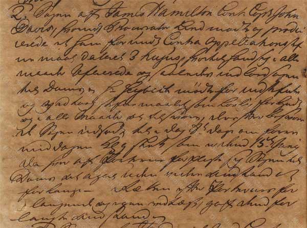 John Davis v. James Hamilton, June 8, 1765, 2