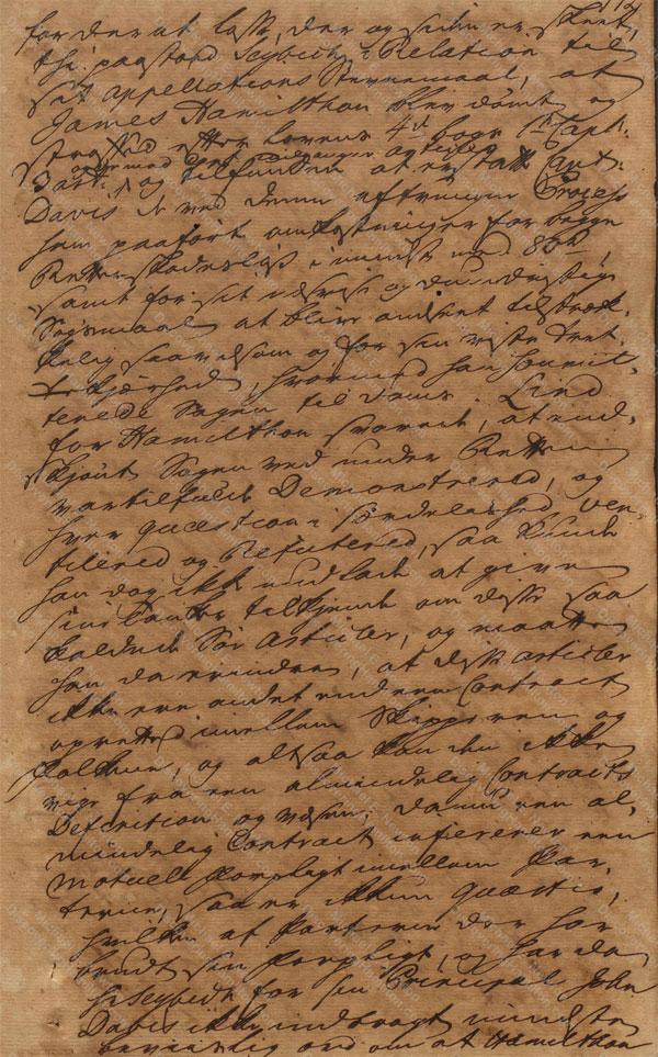 John Davis v. James Hamilton, June 19, 1765, 3