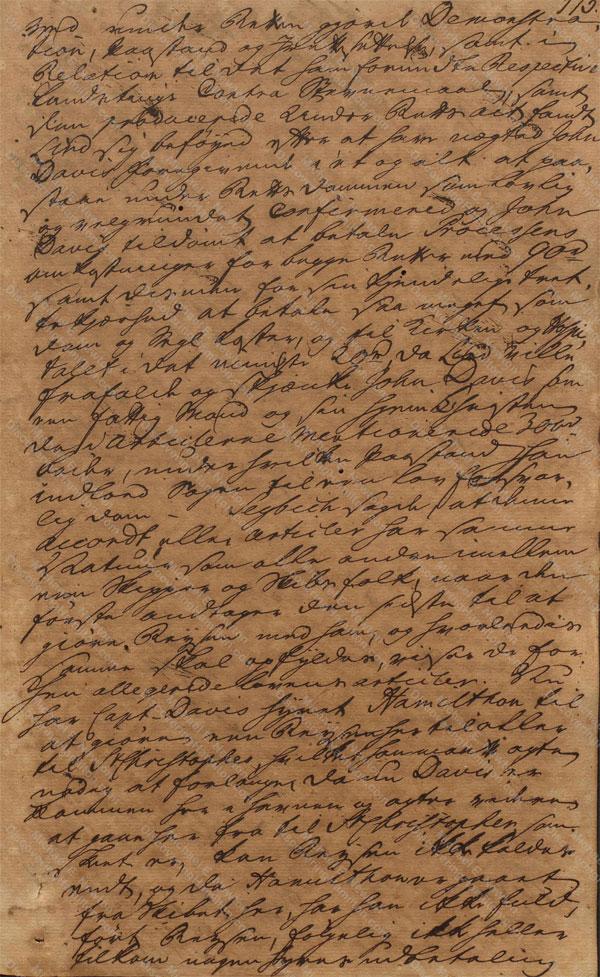 John Davis v. James Hamilton, June 19, 1765, 5