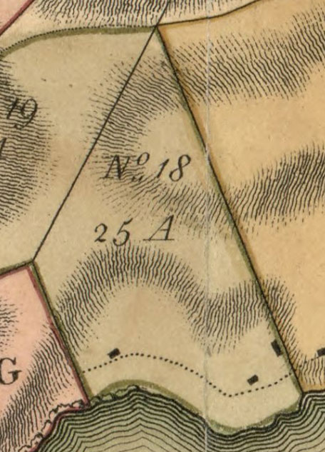 James Hamilton's No. 18 on the Plan of the Island of Bequia map
