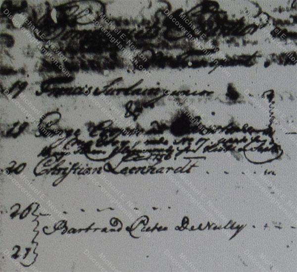 Company's Quarter Nos. 20 and 21 in 1757, Bertram Pieter de Nully