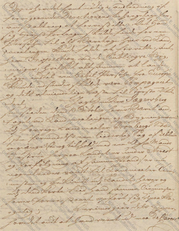 St. Croix Privy Council, January 7, 1750, about Rachel Faucett Lavien and Johan Cronenberg