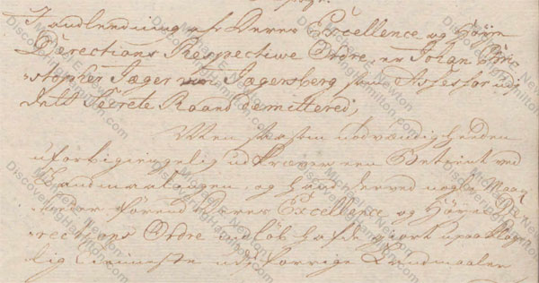 St. Croix Privy Council, March 25, 1750, about Rachel Faucett Lavien and Johan Cronenberg