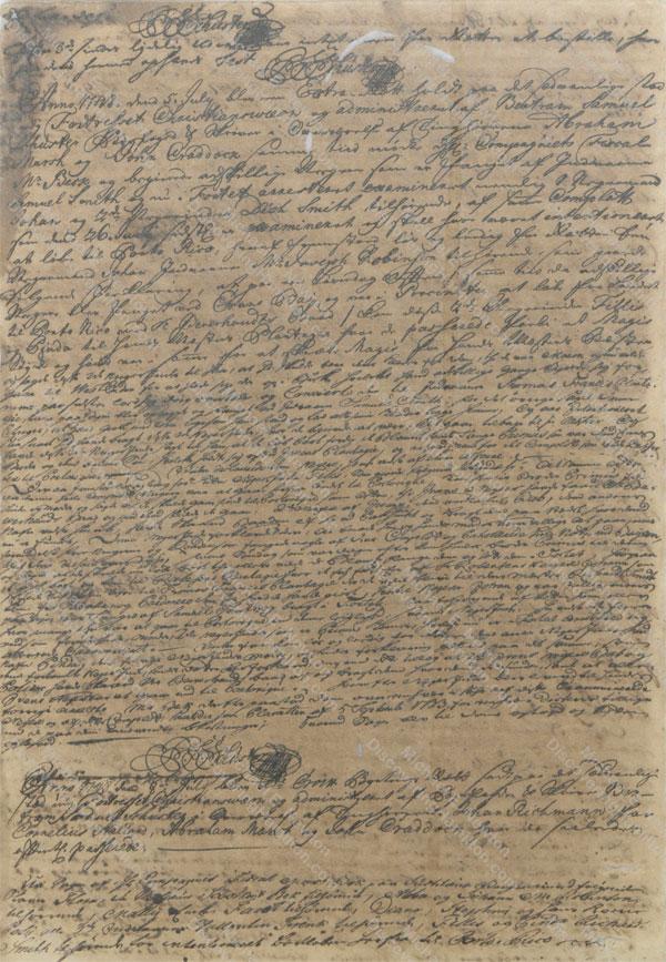 1748 slave plot desert St. Croix