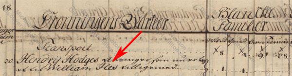 William Iles, 1758 matrikel, St. Croix