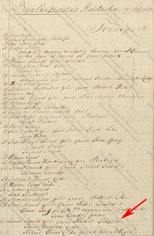 Rachel Fatzieth, St. Croix Matirkel of 1766