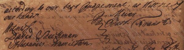 Alexander Hamilton with David Beekman, April 1767
