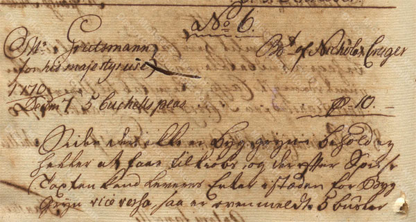 Alexander Hamilton receiving payment from St. Croix Privy Council for Nicholas Cruger, December 1770