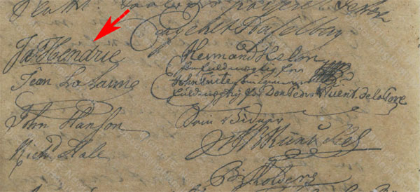 James Hendrie, June 1758, Christiansted bailiff register