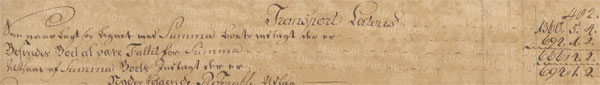 James Hendrie of St. Croix, probate settlement, 1773