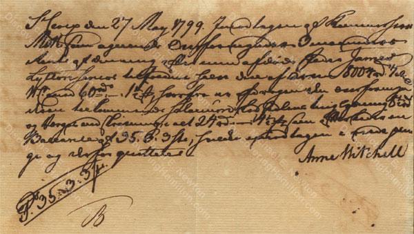 Anne Lytton Venton Mitchell, May 27, 1799
