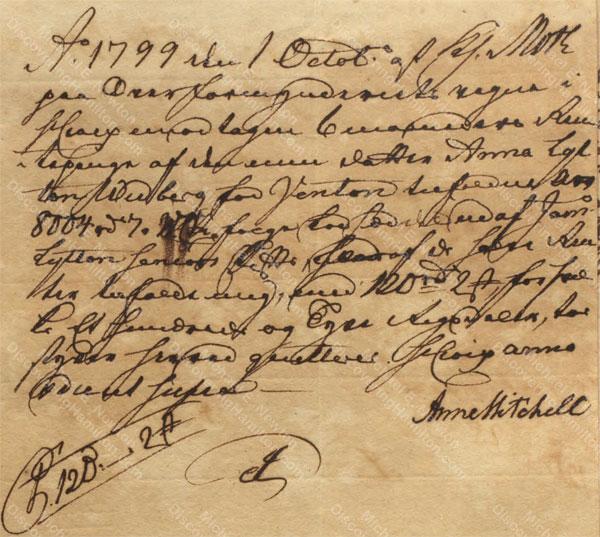 Anne Lytton Venton Mitchell, October 1, 1799