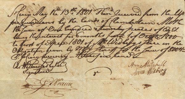 Anne Lytton Venton Mitchell, May 13, 1801