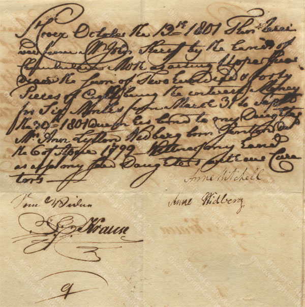 Anne Lytton Venton Mitchell, October 13, 1801