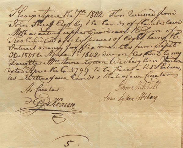 Anne Lytton Venton Mitchell, April 7, 1802