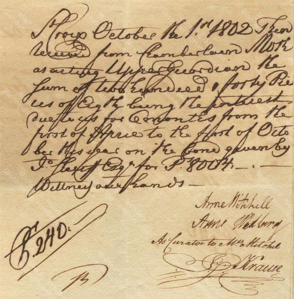 Anne Lytton Venton Mitchell, October 1, 1802