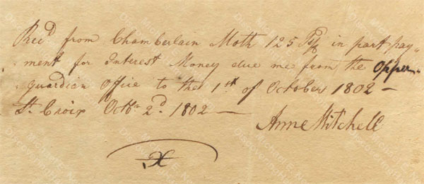 Anne Lytton Venton Mitchell, October 2, 1802