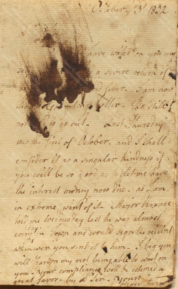 Anne Lytton Venton Mitchell, October 3, 1802