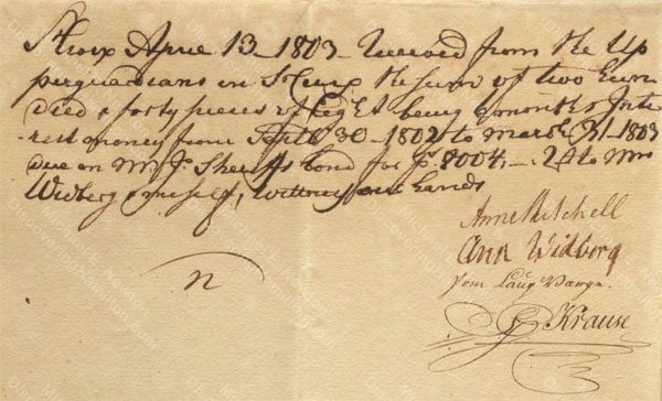 Anne Lytton Venton Mitchell, April 13, 1803