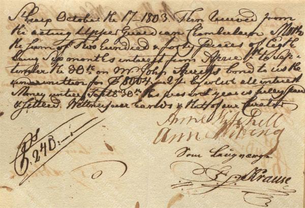 Anne Lytton Venton Mitchell, October 17, 1803