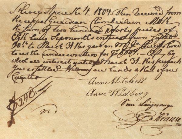 Anne Lytton Venton Mitchell, April 3, 1804