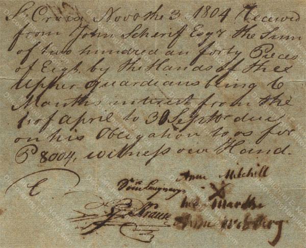 Anne Lytton Venton Mitchell, November 3, 1804