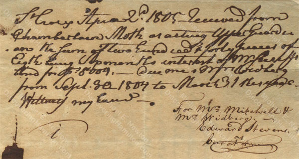 Anne Lytton Venton Mitchell, April 2, 1805