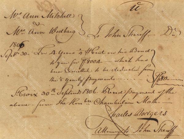 Anne Lytton Venton Mitchell, September 30, 1806