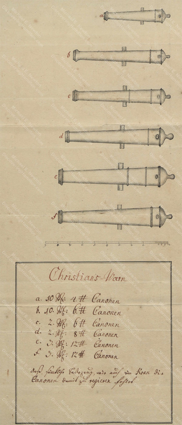 Cannon of Christiansvaern, St. Croix, 1768
