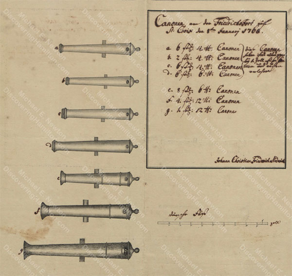 Cannon of Frederiksfort, St. Croix, 1768