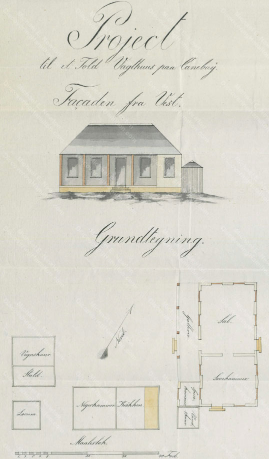 Project for a Customs Guardhouse, Canebay, St. Croix, 1828