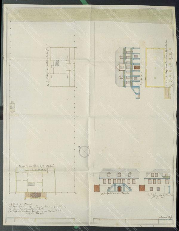 House drawn by Julius von Rohr