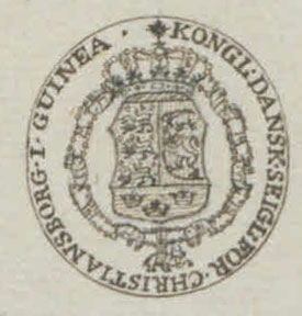 Stamp from Christianborg in Guinea, Africa